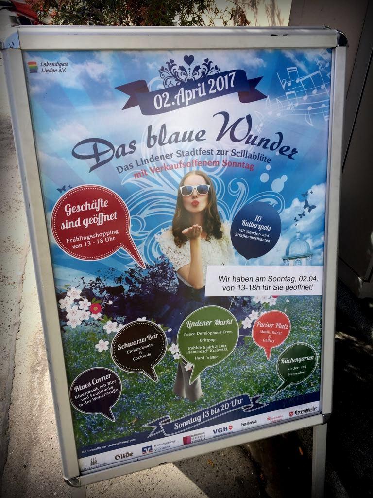 das blaue Wunder Linden, verkaufsoffener Sonntag Hannover
